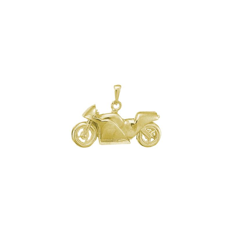 Pendentif moto Or 14 carats jaune - La Petite Française
