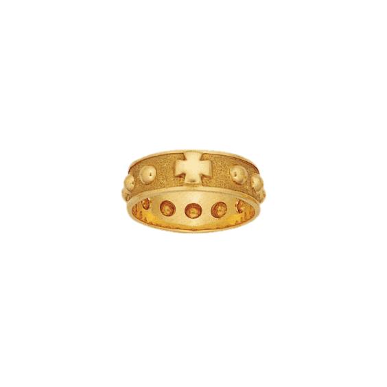 Anneau dizainier Or 14 carats jaune - 7 MM - La Petite Française