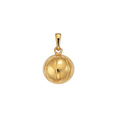 Pendentif ballon de basket-ball Or 14 carats jaune - La Petite Française