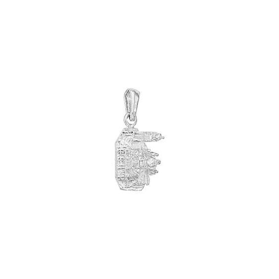 Pendentif Sacré-Coeur Or 14 carats gris - La Petite Française