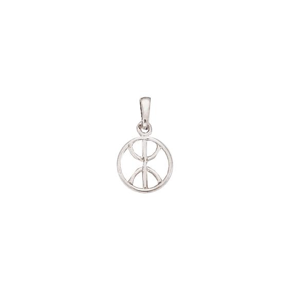 Pendentif Berbère cercle Or 14 carats gris - 22 MM - La Petite Française