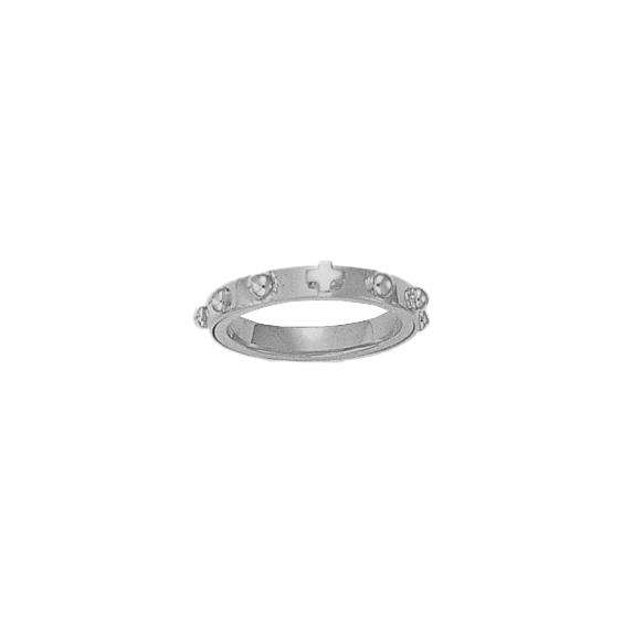 Anneau dizainier tournant Or 14 carats gris - 3 MM - La Petite Française