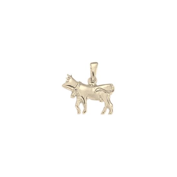 Pendentif vache Or 14 carats gris - 19 MM - La Petite Française