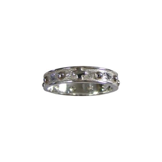 Anneau dizainier Or 14 carats gris - 4 MM - La Petite Française