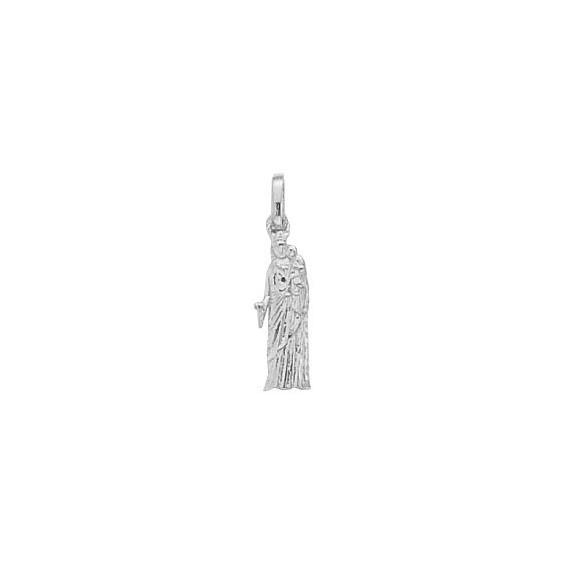 Pendentif Vierge à l'enfant de Notre-Dame Or 14 carats gris - La Petite Française