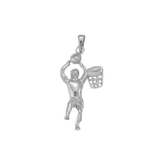 Pendentif Basketteur Or 14 carats gris - La Petite Française