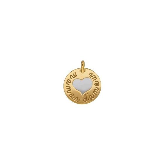 Médaille Maman d'amour Or 18 carats jaune - La Petite Française