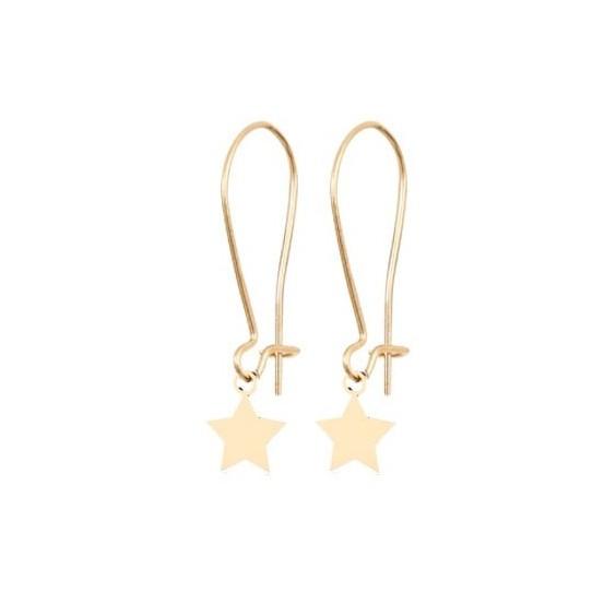 Boucles d'oreilles Clara étoile Or 18 carats jaune - La Petite Française