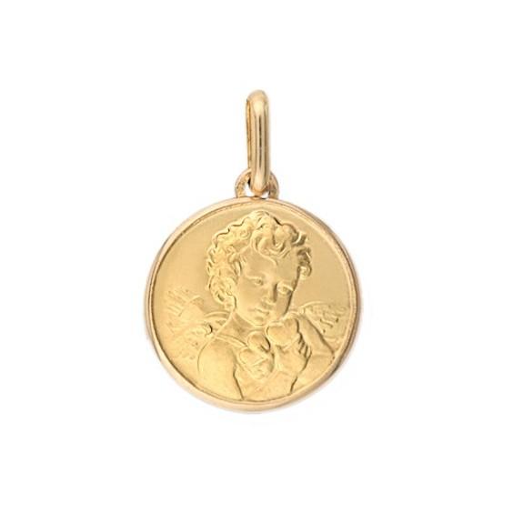 Médaille ange Cupidon - 18 mm - Or 18 carats jaune - La Petite Française