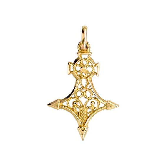 Croix du sud filigrane Or 18 carats jaune - 28 MM - La Petite Française