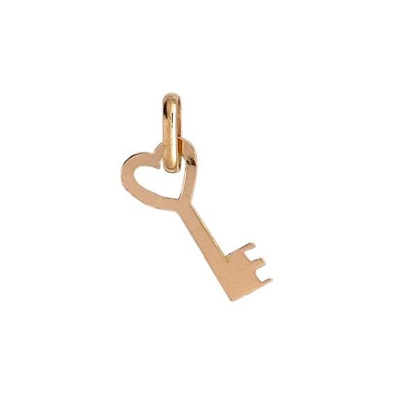 Pendentif clef de mon coeur Or 18 carats jaune - La Petite Française