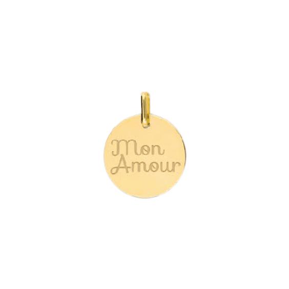 Pendentif Mon amour Or 18 carats jaune - La Petite Française