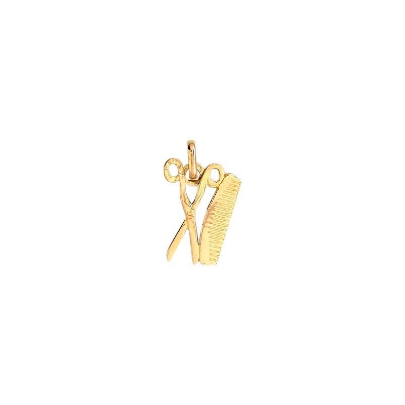 Pendentif ciseaux et peigne Or 18 carats jaune - La Petite Française