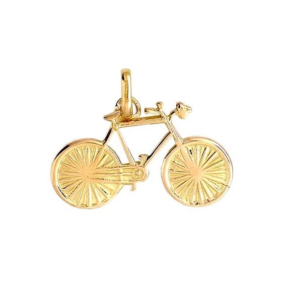 Pendentif vélo de course Or 18 carats jaune - La Petite Française