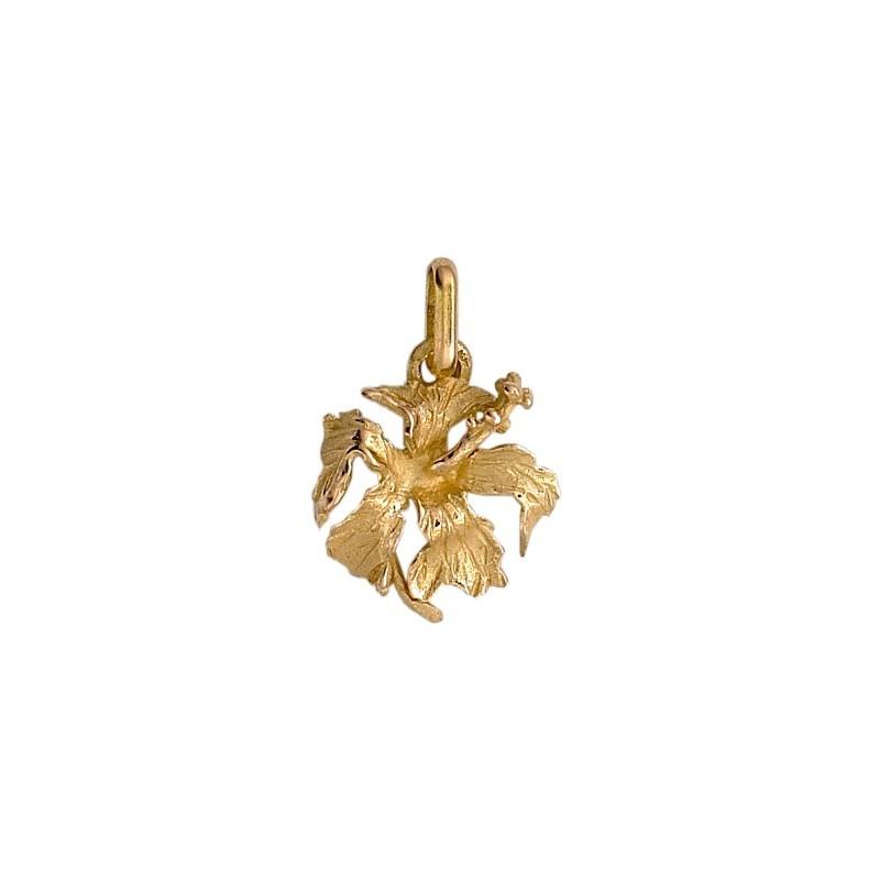 Pendentif hibiscus Or 18 carats jaune - La Petite Française
