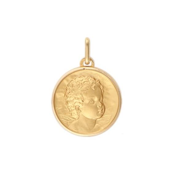 Médaille ange - 17 mm - Or 18 carats jaune - La Petite Française