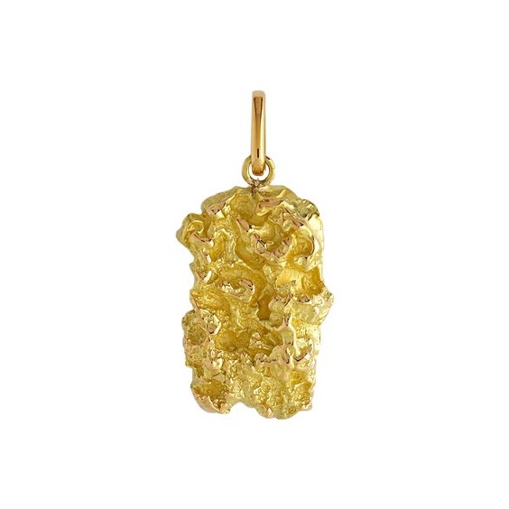 Pendentif pépite Or 18 carats jaune - 40 MM - La Petite Française