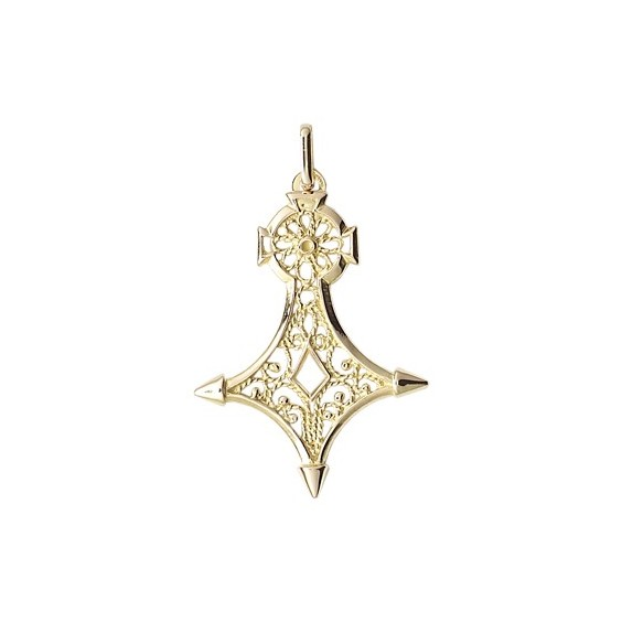 Croix du sud filigrane Or 18 carats jaune - 38 MM - La Petite Française