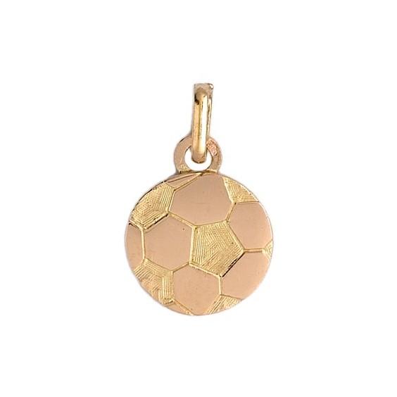 Pendentif ballon football Or 18 carats jaune - La Petite Française