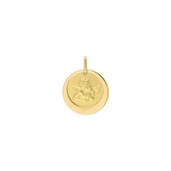 Médaille ange de Raphaël - 17 mm - Or 18 carats jaune - La Petite Française