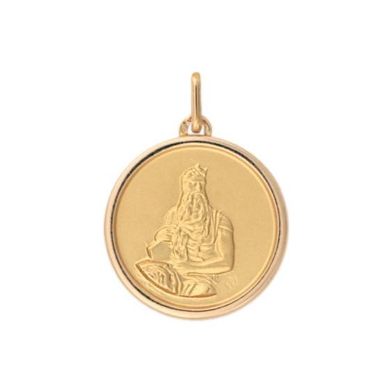 Médaille Moïse - 20 mm - Or 18 carats jaune - La Petite Française