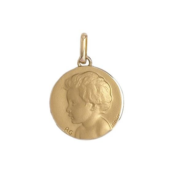 Médaille enfant - 18 mm - Or 18 carats jaune - La Petite Française