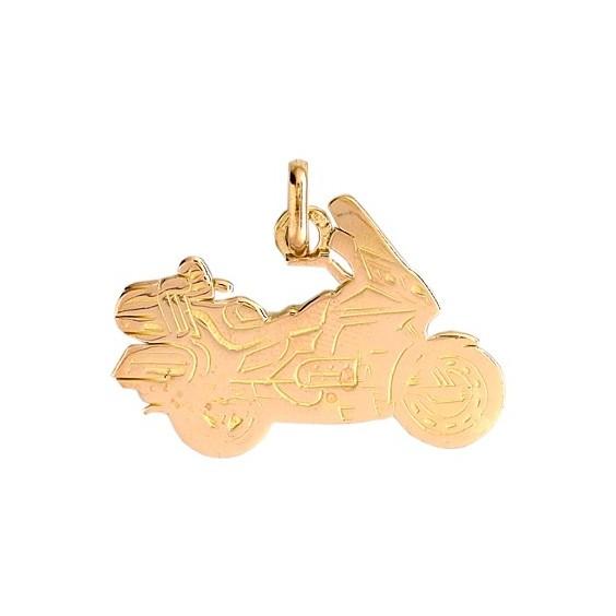 Pendentif moto Goldwing Or 18 carats jaune - La Petite Française