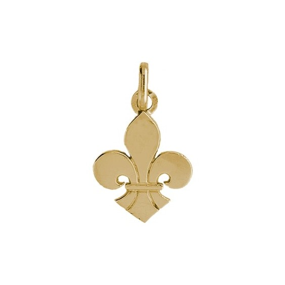 Pendentif Fleur de Lys Or 18 carats jaune - 21 X 14 MM - La Petite Française