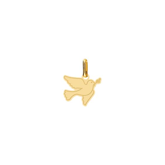 Pendentif colombe de la paix Or 18 carats jaune - La Petite Française