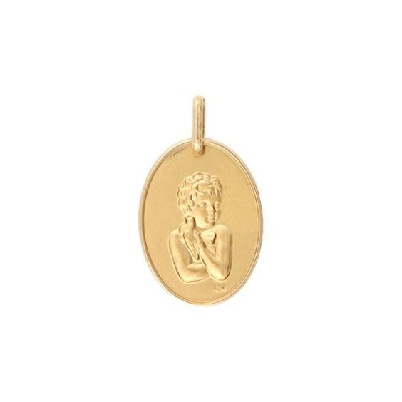 Médaille enfant à la colombe Or 18 carats jaune - La Petite Française
