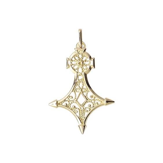 Croix du sud filigrane Or 18 carats jaune - 47 MM - La Petite Française
