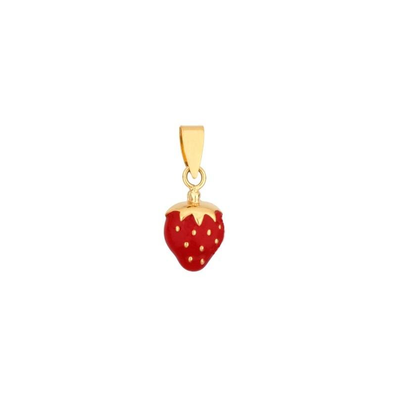 Pendentif fraise Or 18 carats jaune - La Petite Française