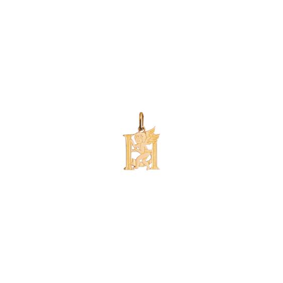 Pendentif ange lettre H Or 18 carats jaune - La Petite Française
