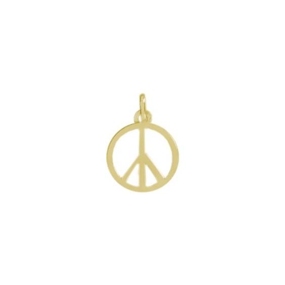 Pendentif Peace and Love Or 18 carats jaune - La Petite Française