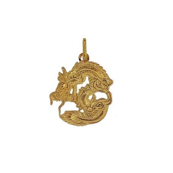 Pendentif dragon Or 18 carats jaune - La Petite Française