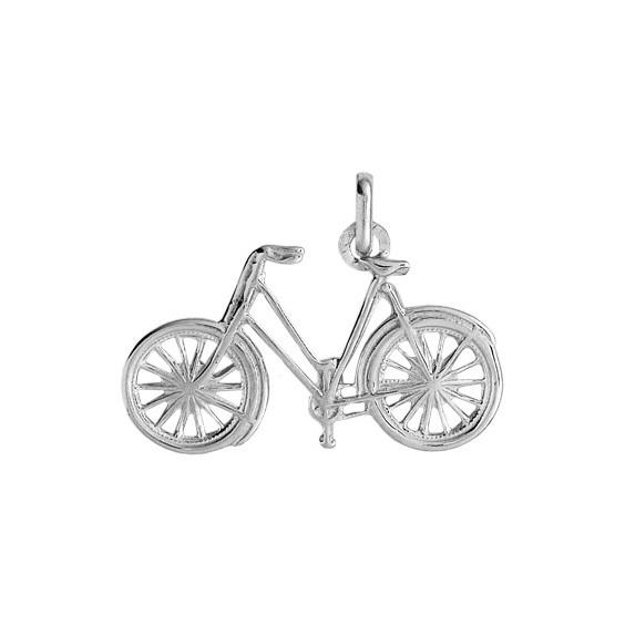 Pendentif vélo de route Or 18 carats gris - La Petite Française