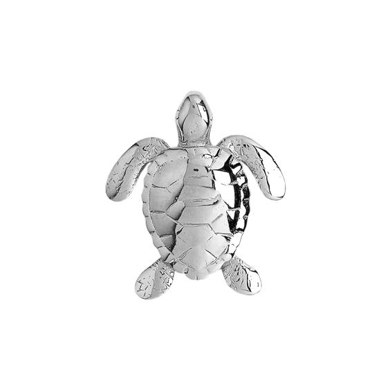 Pendentif tortue marine  Or 18 carats gris - La Petite Française