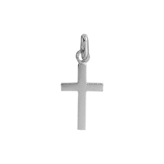 Croix  Or 18 carats gris - 17 MM - La Petite Française