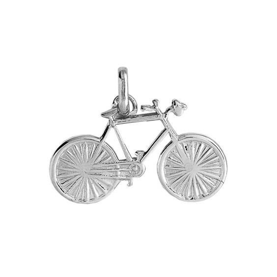Pendentif vélo de course Or 18 carats gris - La Petite Française