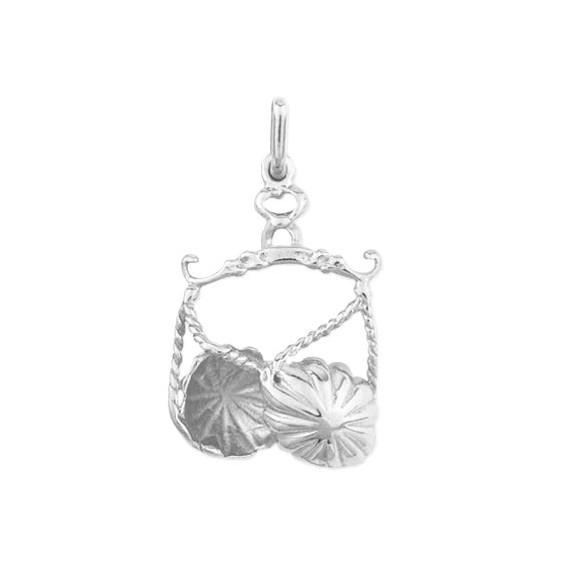 Pendentif balance Or 18 carats gris - La Petite Française
