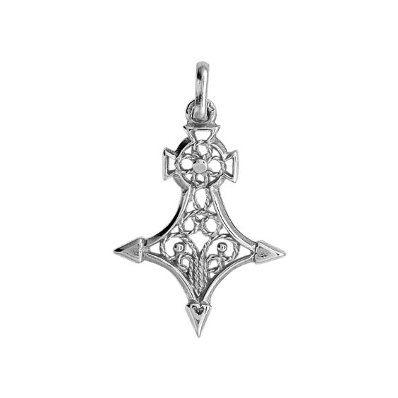 Croix du sud filigrane Or 18 carats gris - 28 MM - La Petite Française