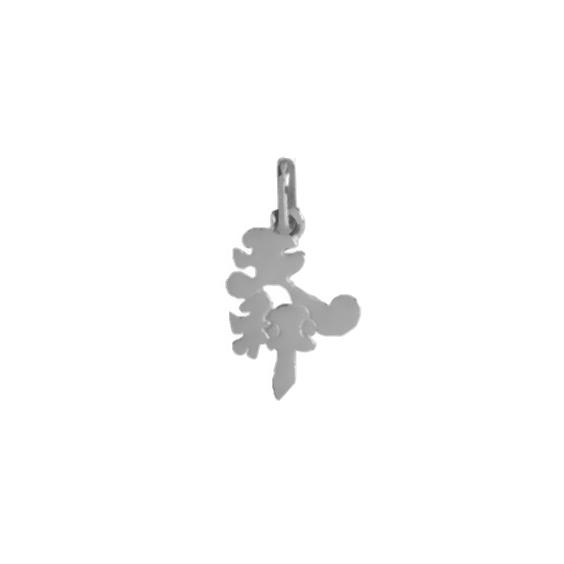 Pendentif idéogramme chinois balance Or 18 carats gris - La Petite Française