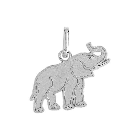 Pendentif éléphant Or 18 carats gris - 19 x 18 MM - La Petite Française