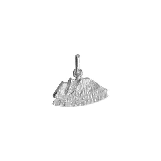 Pendentif volcan la soufrière Or 18 carats gris - La Petite Française