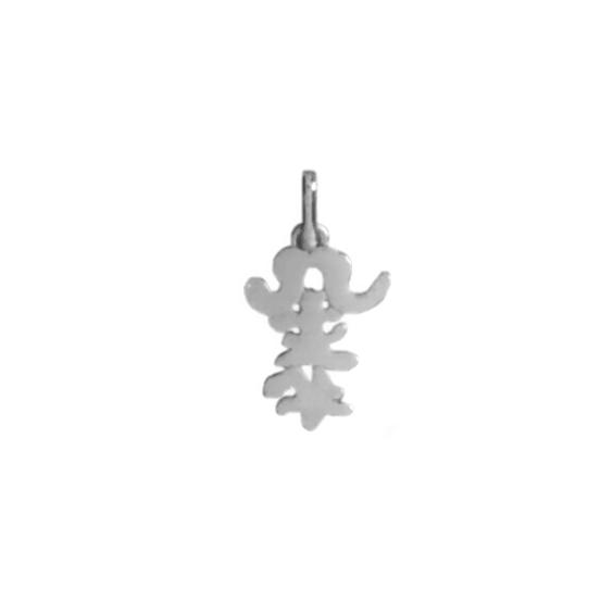 Pendentif idéogramme chinois taureau Or 18 carats gris - La Petite Française