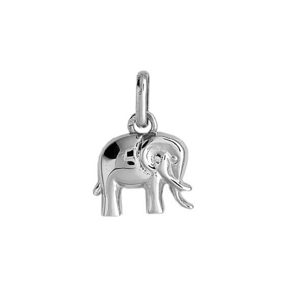 Pendentif éléphant Or 18 carats gris - 15 x 11 MM - La Petite Française