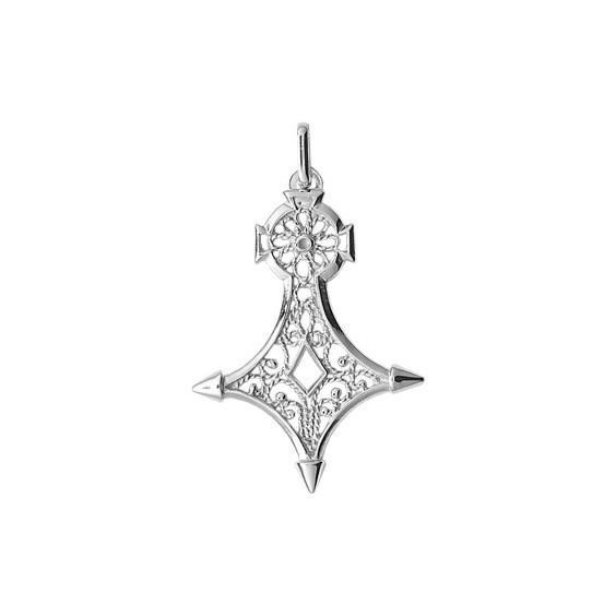 Croix du sud filigrane Or 18 carats gris - 38 MM - La Petite Française