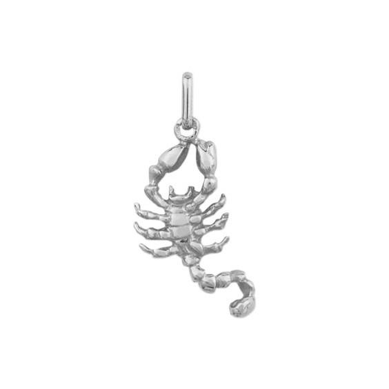 Pendentif scorpion Or 18 carats gris - La Petite Française