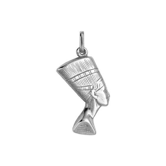Pendentif Néfertiti Or 18 carats gris - La Petite Française