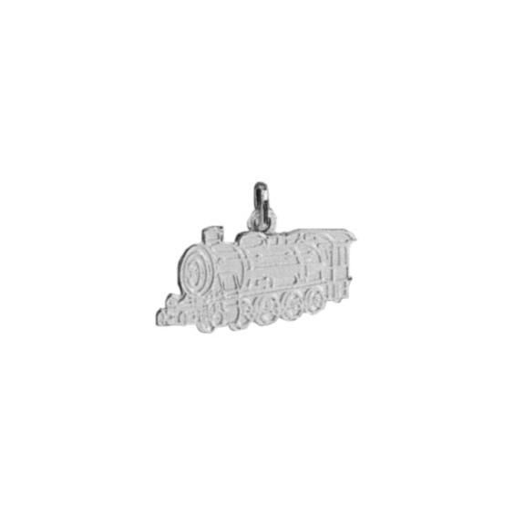 Pendentif locomotive Or 18 carats gris - La Petite Française